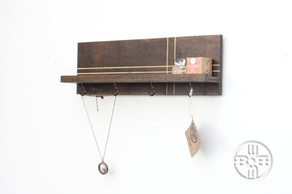 Jewelry Rack Shelf With Hooks Jewelry Organizer Entryway