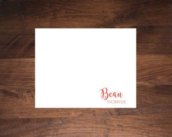 Personalized, Flat Card Stationery
