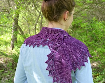 Scarf Knitting PATTERN PDF, Knitted Scarf Pattern,  Garter Stitch Scarf - Spring Runoff Scarf