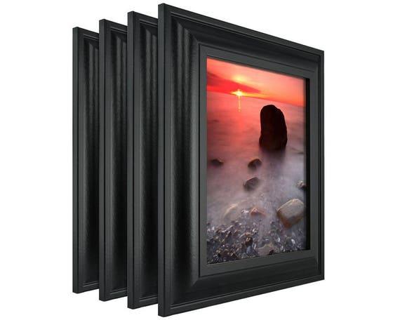 Craig Frames, 16x22 Inch Black Picture Frame Set, Contemporary ...