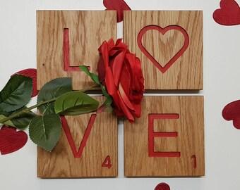 LOVE SCRABBLE TILES