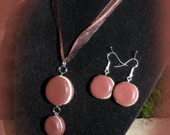 "Finery ""macaroon"" necklace and earrings"