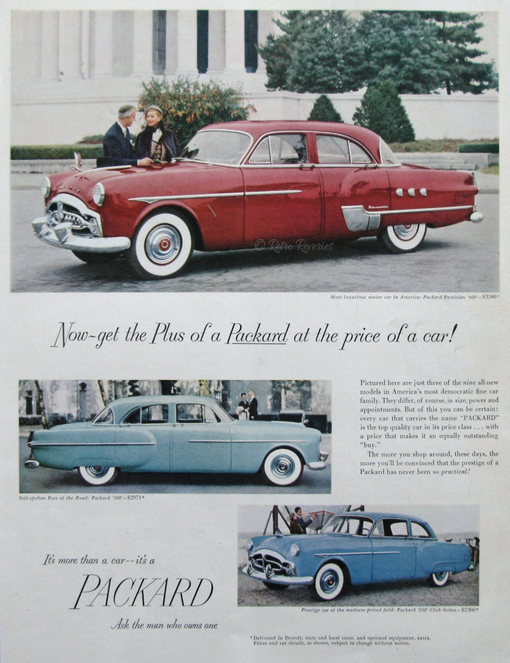 1951 Packard Patrician Ad 1950s Classic Car Advertising