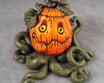OOaK Jack Halloween Pumpkin Sculpture - Autumnthing