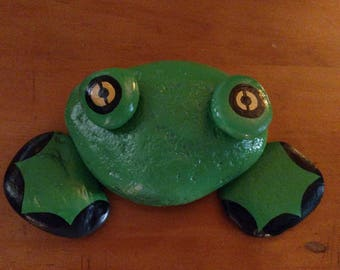 Frog made from river rock