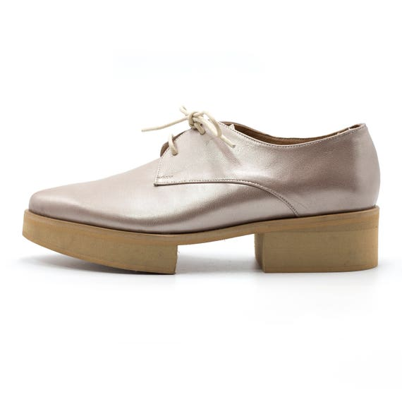 Pointy Shoes Shoes Platform Heels Shoes Oxfords Comfortable Oxford Leather shoes Flat Oxfords Oxford Platform Leather Metallic Shoes Uq4A6w