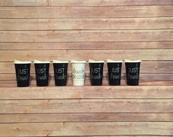 Personalized Solo Cups, Monogrammed Solo Cups, Bridesmaid Cups, 16 oz Personalized Solo Cups, Solo Cup with Lid, Reusable Cup