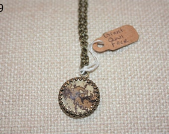 Giant Owl Face Butterfly Necklace