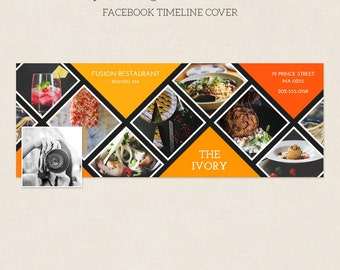 Facebook Timeline Cover - Facebook Timeline Template - PSD Template - Customize Facebook Page - Instant Download - F226