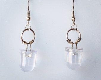 Big Clear LED Earrings