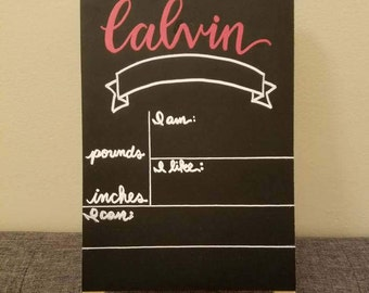 Baby Milestones | Toddler Milestones | Children Milestones | Chalkboard Sign | Personalized Sign | Customized Sign