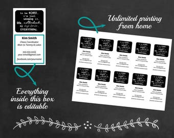 Editable Mommy Cards, Playdate Cards, Digital PDF Printable File, Just Winging It