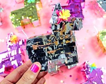 Mini Gold Pinatas, (4) Mini Pinatas, Cinco de Mayo, Fiesta Party Favor, Fiesta Wedding Favor, Wedding Piñata, Bridesmaid Proposal, Set of 4