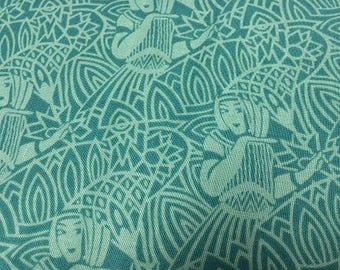 Downton Abbey Teal Egyptian from Andover by the yard