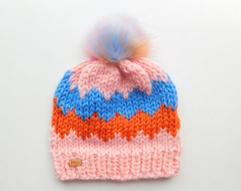 The Westney Hat in Fantasy / Ready to Ship / Woman's Knit Hat