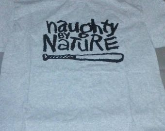 Gray Naughty by Nature tshirt