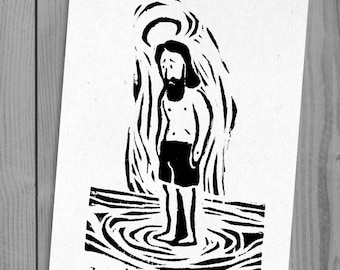 Summer J | linocut print