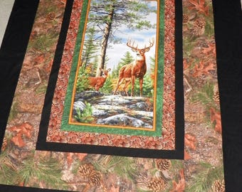 Deer - Camo Homemade Quilt - Large Throw