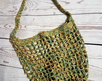 Crocheted, Market Bag, Farmer's Market Bag, Shopping Bag, Reusable, Tote Bag, Crocheted Bag, Mother Earth