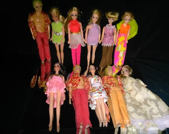Vintage Topper Dolls With Clothing Lot of 11 Dolls WOW *******1970's*********