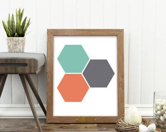 geometric nursery art, minimalist print, instant download, baby girl wall art, Colors of California series, Myan Soffia, summer art