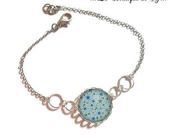 Bracelet fine silver with 18 mm cabochon * Star * (010118)