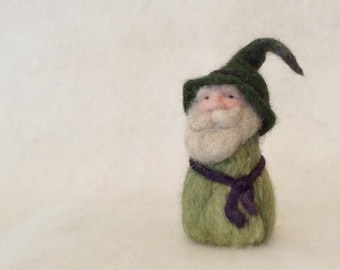 Wise Old Gnome Needle Felted Wool Home Decoration