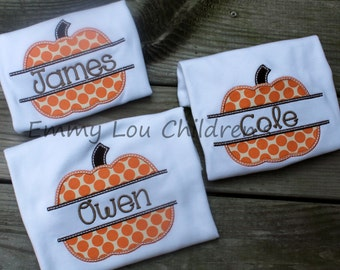 Pumpkin Shirt Personalized