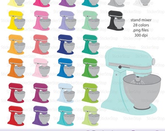 Stand Mixer Digital Clipart - Instant download PNG files