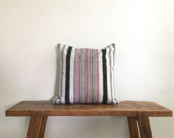 """Vintage 18"""" by 18"""" Hemp Cushion Cover Hmong Hill Tribe Ethnic Thai"""