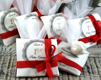 10 Personalized favors for graduation-sachet 8.5 x 8.5 cm