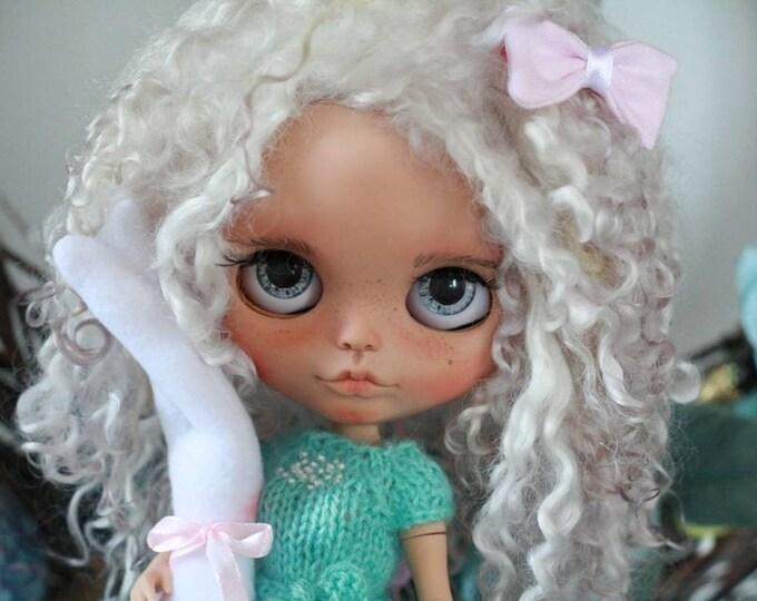 OOAK Custom Blythe doll mohair weft hair