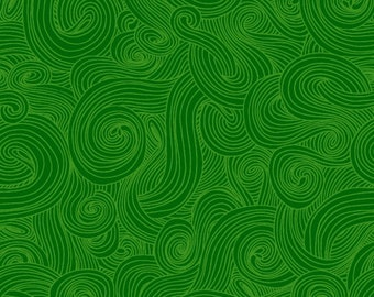 Green Tone on Tone, Swirl Fabric - Just Color - Studio e Fabrics -  1351 Green - Priced by the Half Yard