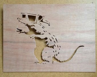 Banksy Rat 3D Glasses Stencil