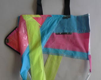 Bags of Surf sail lightblue/pink 52x42