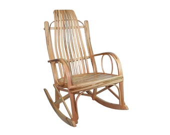 Wormy Maple Bentwood Rocking Chair