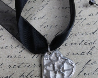 Heart of Hearts Silver Metal Clay Necklace