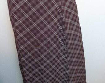 Vintage Purple Plaid Skirt, Vintage Joule School Girl, Office Church Maxi Skirt, Purple Plaid Long Skirt, Long Skirt Vintage, Skirt Vintage