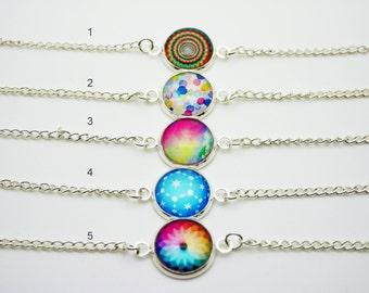 Trendy cabochon bracelet