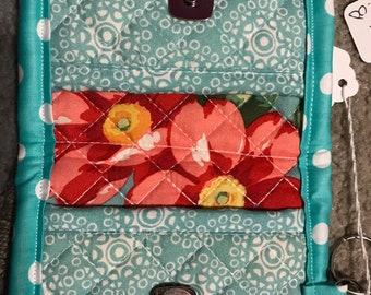 Handmade small wallet snap closure