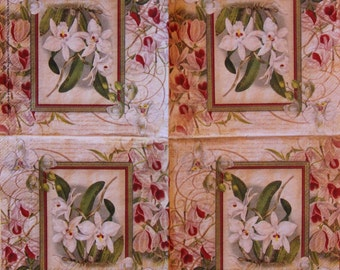 five different paper Napkins for Decoupage and Paper Crafts ,size 5x5