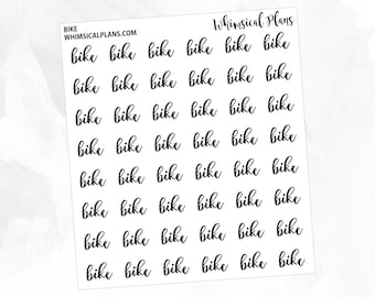Bike | Clear Matte Glossy FOIL Planner Stickers