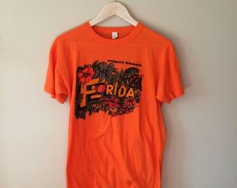 Vintage Miami Beach Florida Tourist T Shirt