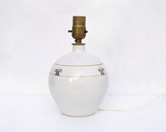 Vintage Studio Pottery Lamp - Signed Wild