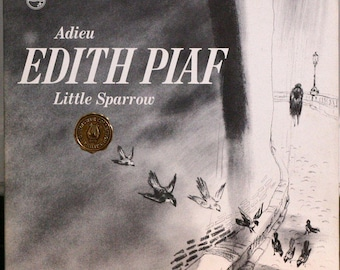 """Edith Piaf """"Adieu, Little Sparrow"""" on Philips PCC 208 Connoisseur Collection from 1964 Gatefold cover with booklet FEMALE VOCAL 12"""" 33RPM Lp"""