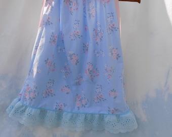 NEW Spring Summer pillowcase dress infant toddler shabby chic blue pink