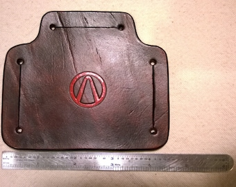 Leather Strap Junction with Borderlands Vault Hunter Symbol Impression - Painted