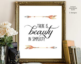 There is beauty in simplicity, gift for girl friend, gift for boy friend, livingroom decor, office decor. workshop decor