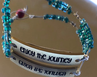 Enjoy the Journey Guitar String Bracelet