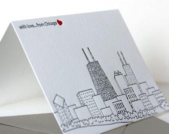 chicago skyline | letterpress greeting card